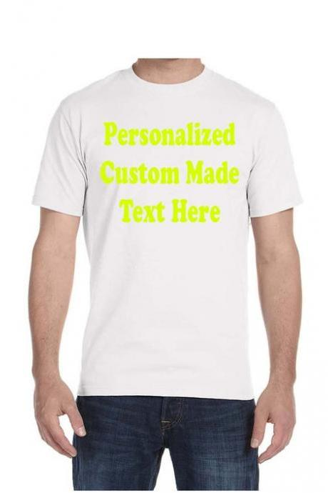 Add Your Own Text/Image - Personalized T-Shirt, Custom T-Shirts, Custom Clothing, Custom Shirt Printing, Custom Ultra Cotton Shirt for Men