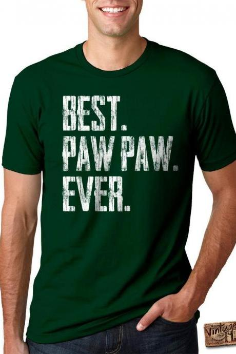 FATHER'S DAY SHIRT - Best Paw Paw Ever - Men's Tee - 12 Shirt Colors